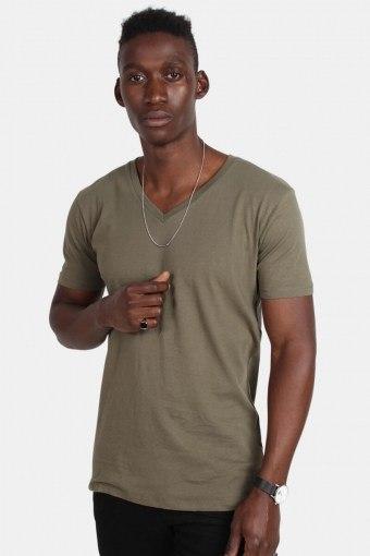 Klokkeban Classics TB1559 Basic V-Neck T-shirt Olive