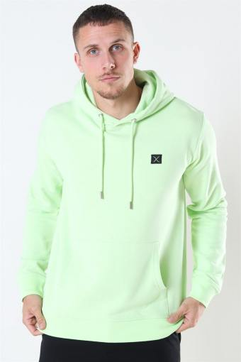 Clean Cut Basic Organic Hoodie Neon Green