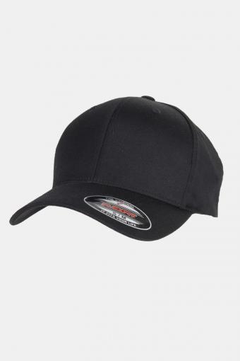 Flexfit Wooly Combed Caps Black/Black