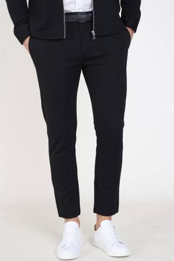 Clean Cut Milano Pinstripe Pants Black