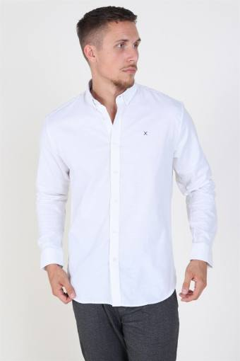 Clean Cut Oxford Plain Skjorte White