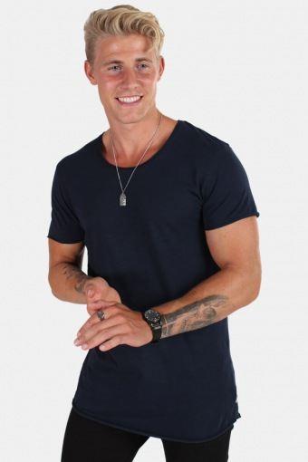 Jack & Jones T-skjorte Neck Noos Navy Blazer Reg Fit