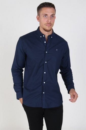Clean Cut Oxford Plain Skjorte Navy