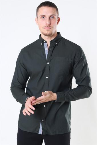 Classic Soft Oxford Skjorte LS Olive Night