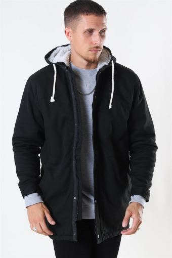 Teddy Parka Jakke Black