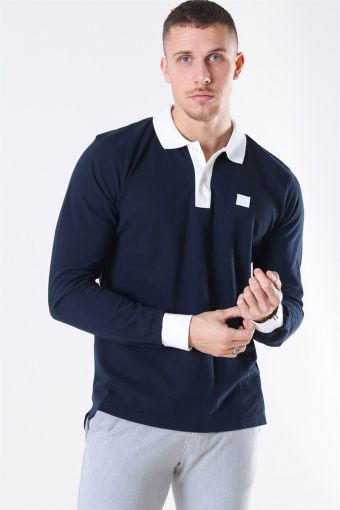 Rivierre LS Polo Dark Navy/White