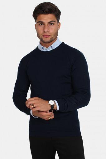 Tailored & Originals Fitz Strikke Insignia Blue
