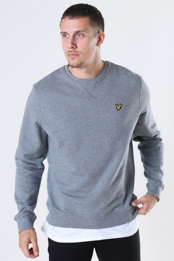 Crew Neck Sweatshirt Mid Grey Marl