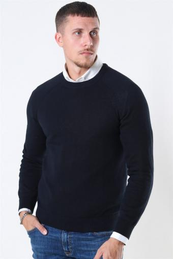 Luno O-neck Strikke Black