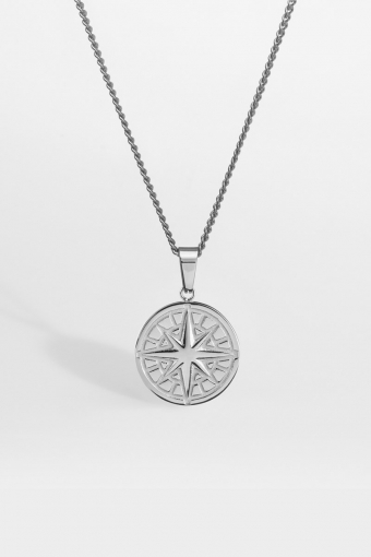 "Compass Halskjede 2.0 ""Silver"""