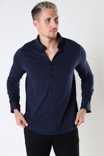 Hudson Stretch Shirt L/S Navy