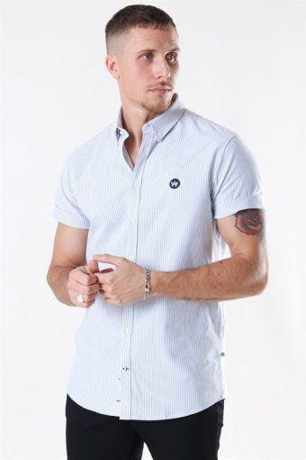 Johan s/s Oxford Stripe White/Light Blue
