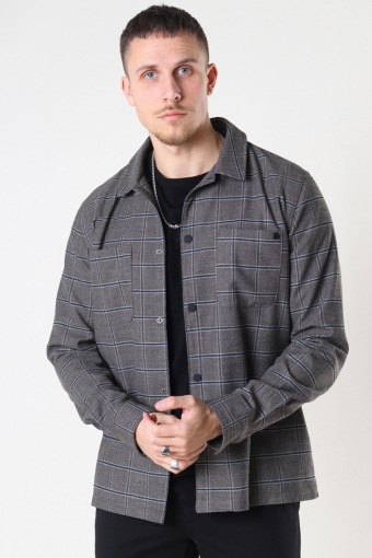 Jack Stretch Overshirt Brown Check