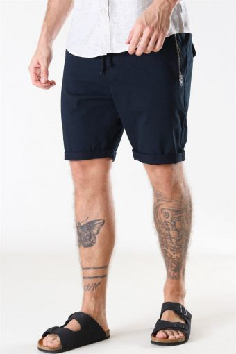 Ron Zip Shorts Black