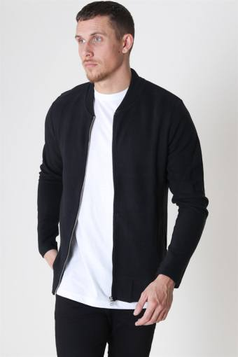 Gerad Sweat Zip Crew Neck Black