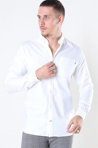 Classic Soft Oxford Skjorte LS White