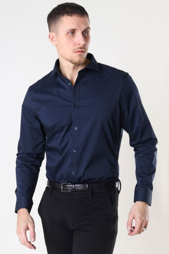 Copenhagen London Stretch Nano Shirt L/S Navy