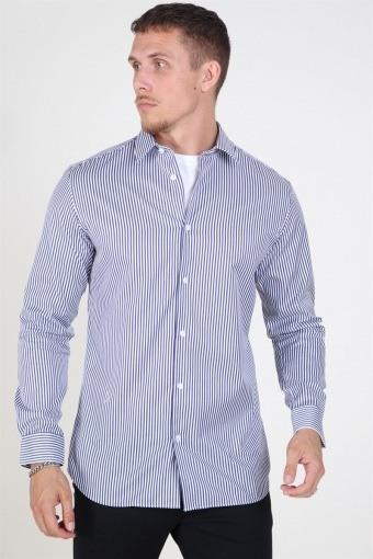 Slim Pelle Skjorte Dark Blue