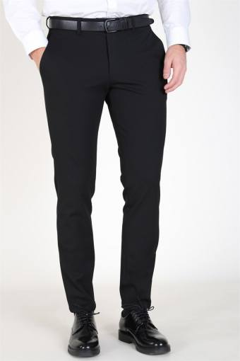 Slim-Carlo Flex Pants Black
