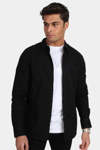 Checked Flanell Skjorte Black/Black