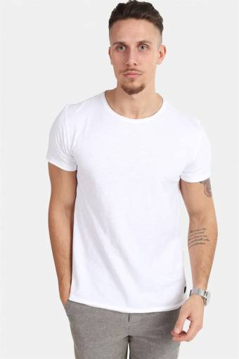 Konrad Slub S/S T-skjorte White