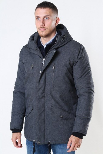 Anders Parka Jakke Charcoal Mix