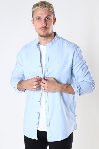 Dean Diego Cotton henley shirt Light Blue