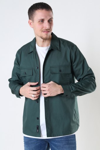 ONSNOAR COMPACT LS TC TWILL OVERSHIRT Jungle Green