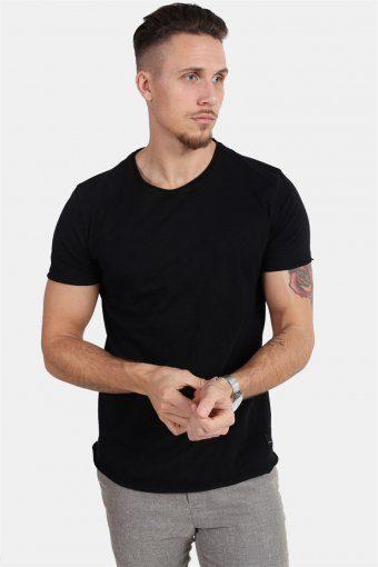 Konrad Slub S/S T-skjorte Black
