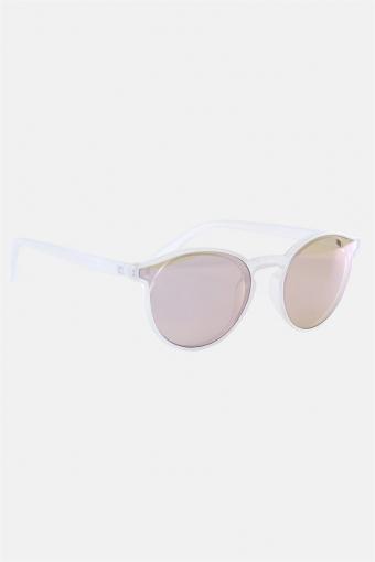Fashion 1384 Solbriller Matt Transparent Clear Lens w/Blue Mirror