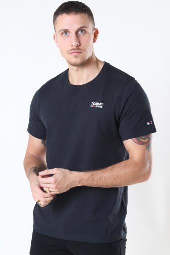 Tommy Jeans Regular Corp Logo T-shirt Black