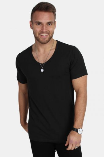 Jack & Jones Basic V-Neck T-skjorte S/S Black