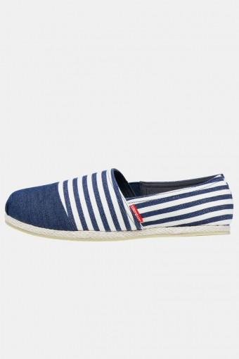 Espadrille Canvas Stripe Navy Blazer