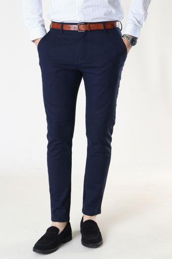 Milano Cotton Linen Pants Navy