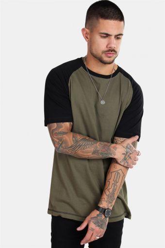 Raglan T-skjorte New Army/Black