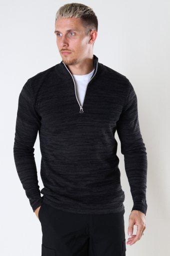 Paul Mouline half zip Black / Charcoal