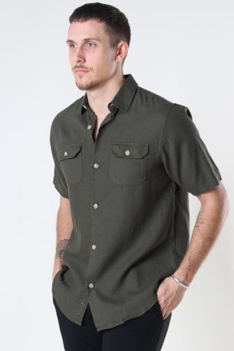 DP Linen ss shirt 140 DEEP DEPTHS