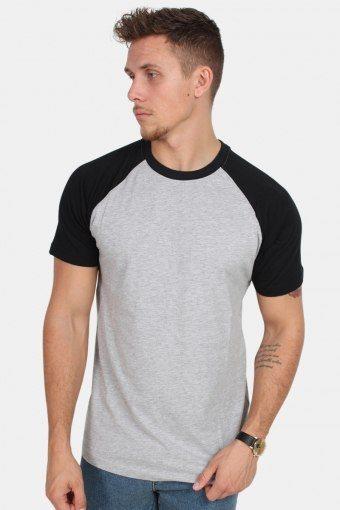 Klokkeban Classics TB639 Raglan Contrast T-shirt Grey/Black