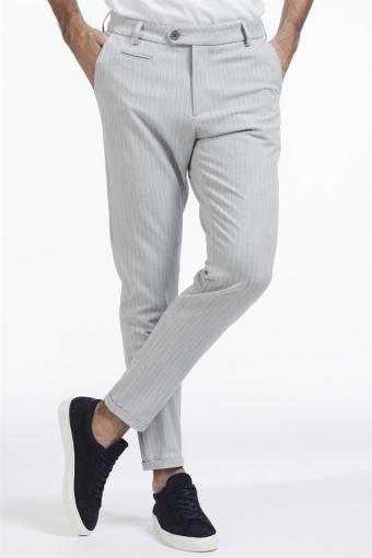 Como Pinstripe Suit Pants Grey melange/White