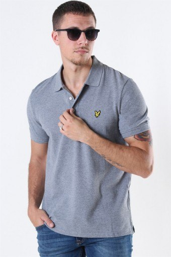 Plain Polo Mid Grey Marl