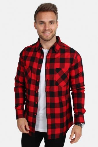 Checked Flanell Skjorte Red/Black