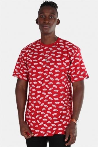 Allover Distorted SS Cardinal T-shirt
