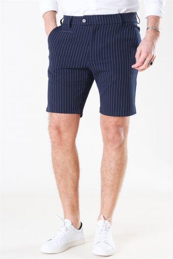 Como Light Pinstripe Shorts Dark-Navy/Provincial Blue
