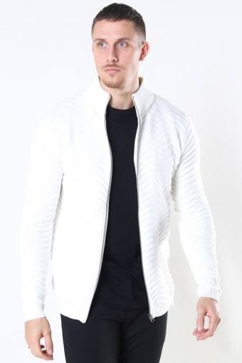 Zip Cardigan Off White