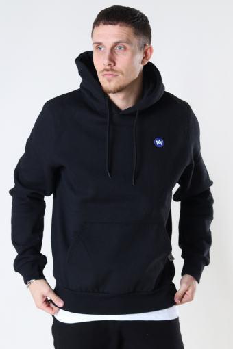 Lars Recycled cotton hood Black