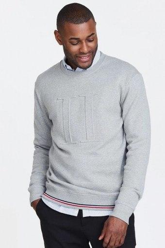 Embossed Sweatshirt Grey Melange