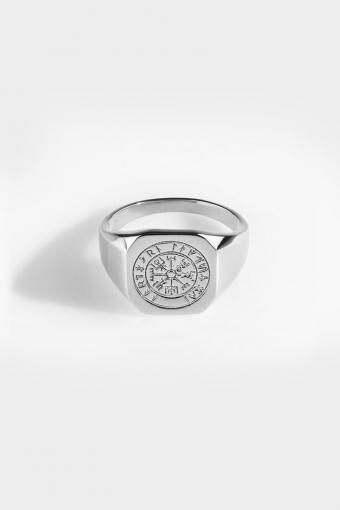 Vegvisir SignatKlokkee Ring Silver