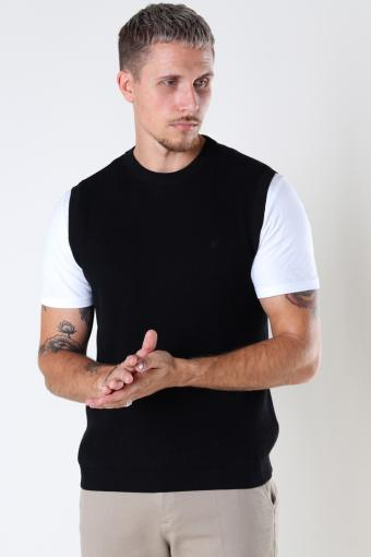 Basic Organic Knit Vest Black
