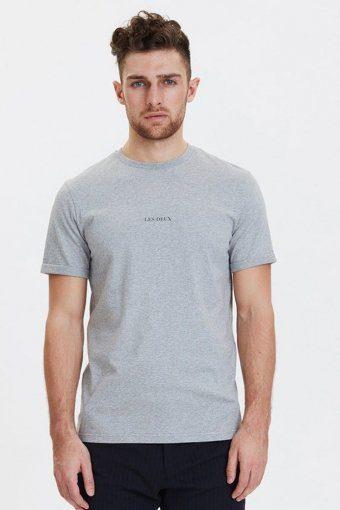 Lens T-skjorte Grey Melange