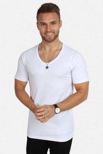 Jack & Jones Basic V-Neck T-skjorte S/S Opt White